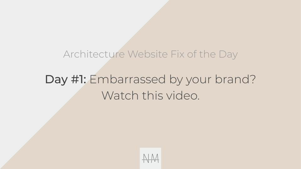 30 Architecture Website Fixes in 30 Days: Introduction